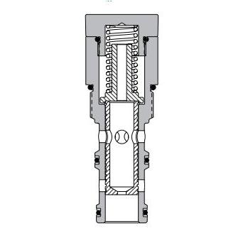 Eaton Vickers PFR2-16 Screw-in Flow Regulator Cartridge Valve